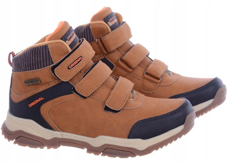 Buty Dziecięce zimowe na rzep brązowe BADOXX 40