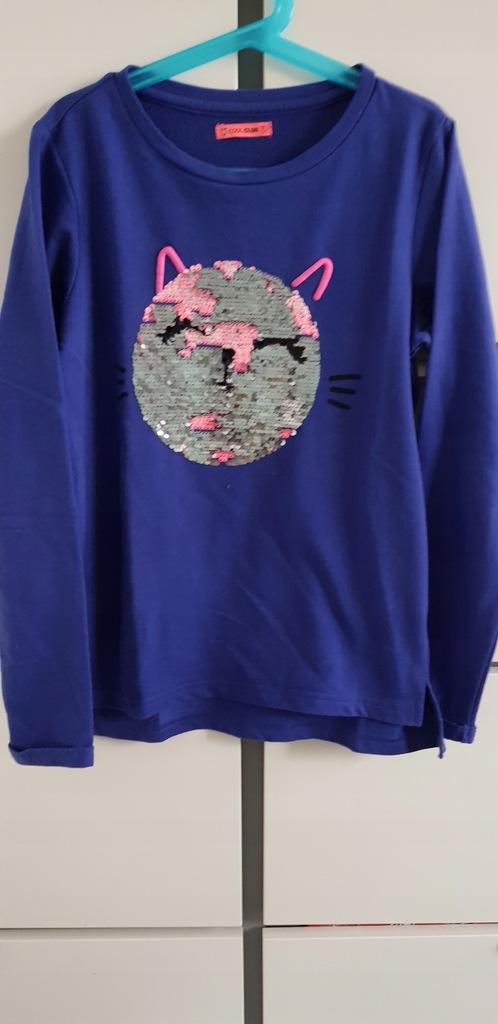COOL CLUB granat bluza cekiny kotek 152