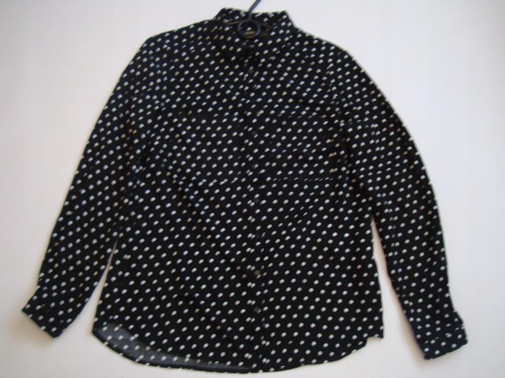 CZARNA koszula bluzka w groszki RESERVED r.34/36