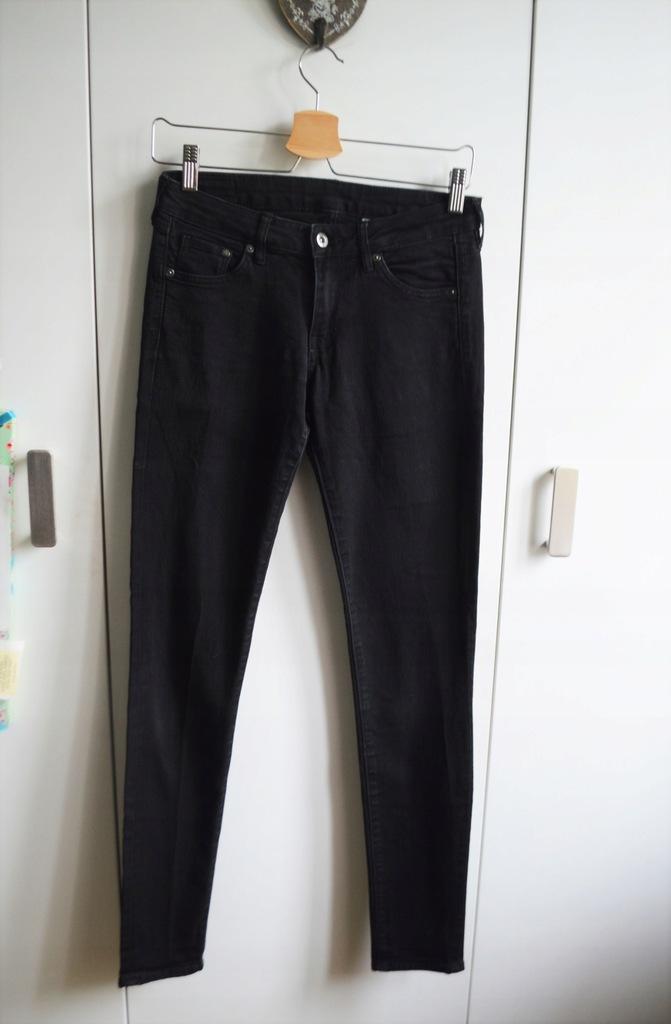 H&M DENIM jeansy rurki 27/32 super skinny low