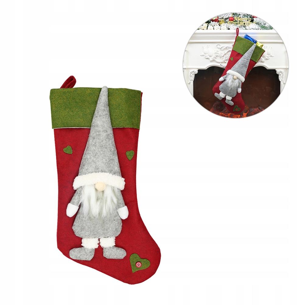 Kreatywne świąteczne pończochy Beztwarzowe pończoc