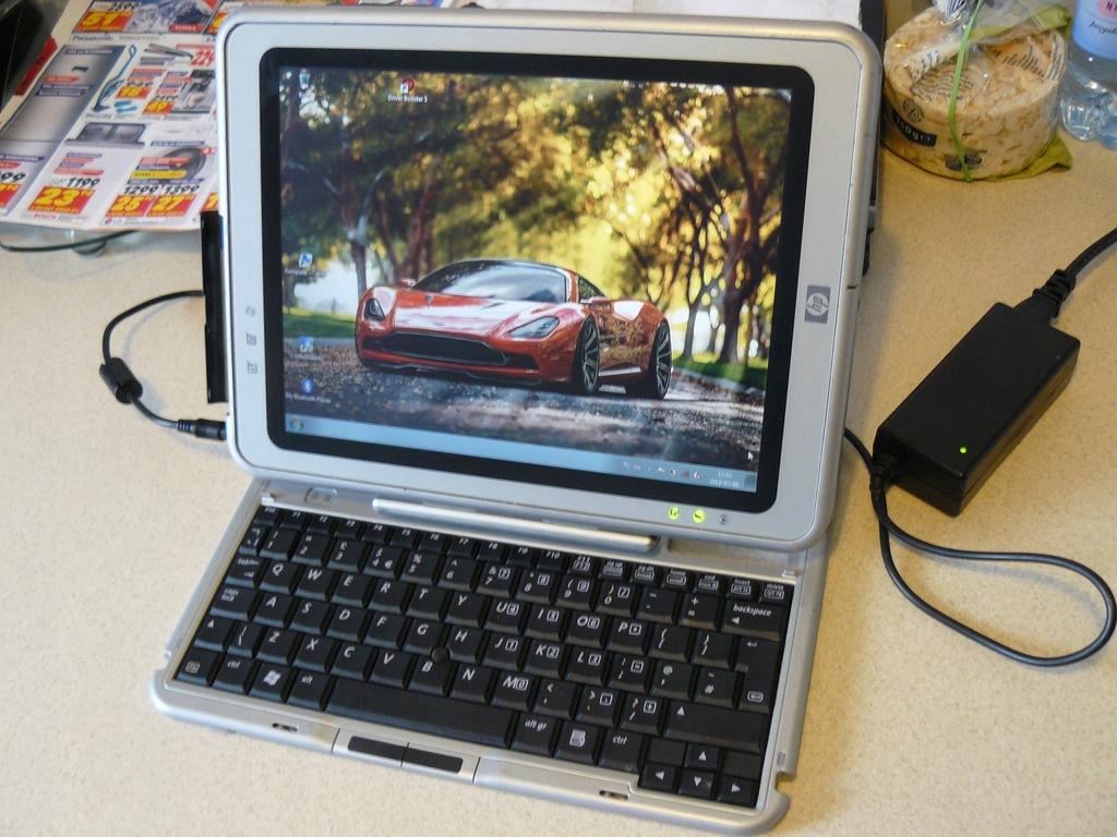 TABLET HP Compaq tc1100 - zasilacz - 40GB HD Ładny
