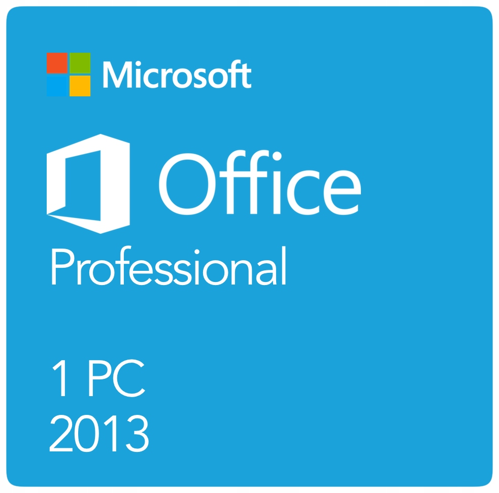 Microsoft Office 2013 Professional 1PC