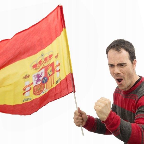 Hiszpańska Flaga na Kiju 60 x 90 cm