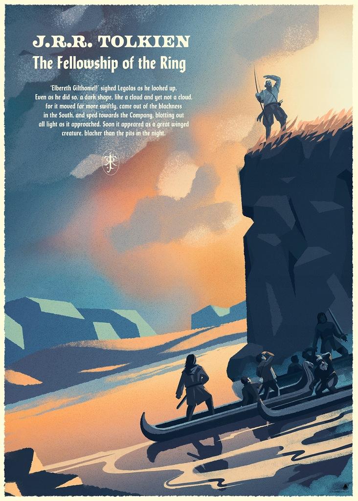 Lord of the ring J.R.R.Tolkien PLAKAT P. Dębowski