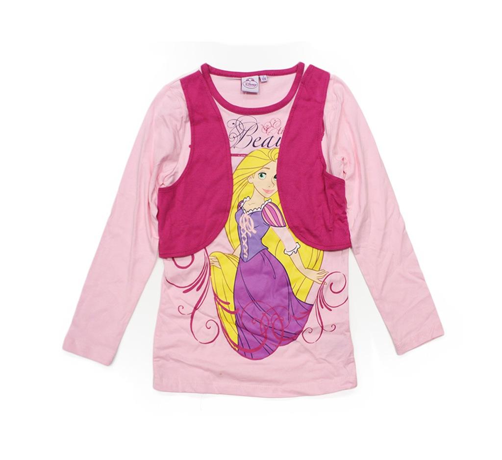 Bluzka długi rękaw Disney princess roszpunka 128