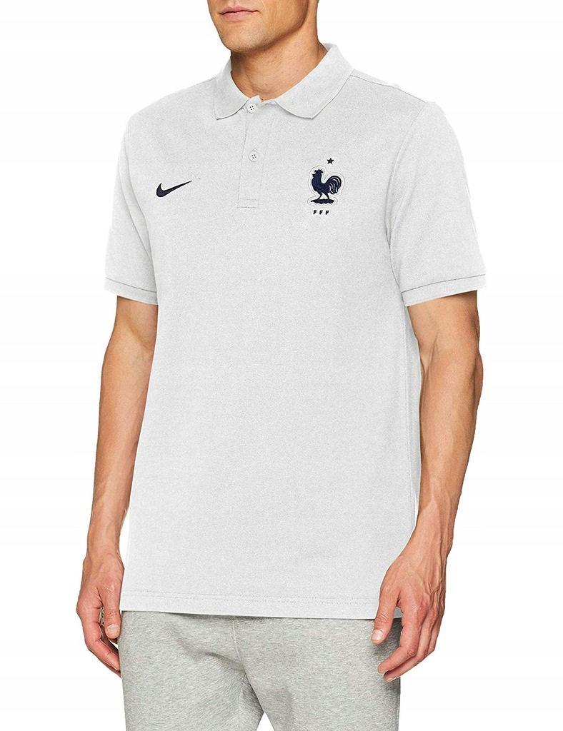 Nike Męska koszulka polo FFF - Srebrny pr08