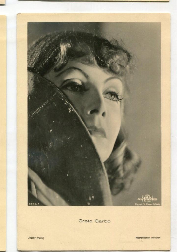 Greta Garbo Kino Film Aktorka Foto Pocztówka 11