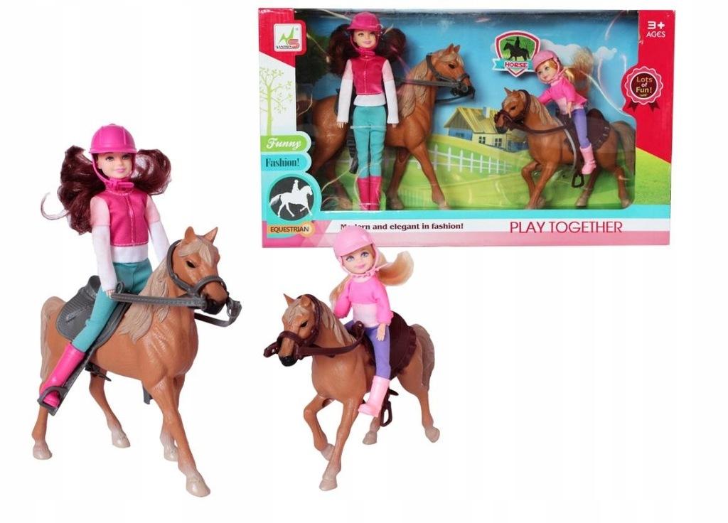 Konie z jeźdźcem i akcesoriami Askato