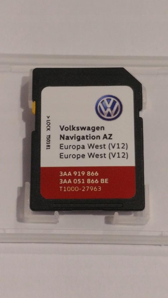 VW Volkswagen RNS315 karta V12 mapa nawigacja 2021