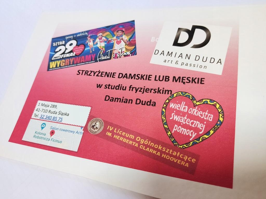 voucher- strzyżenie w salonie Damian Duda