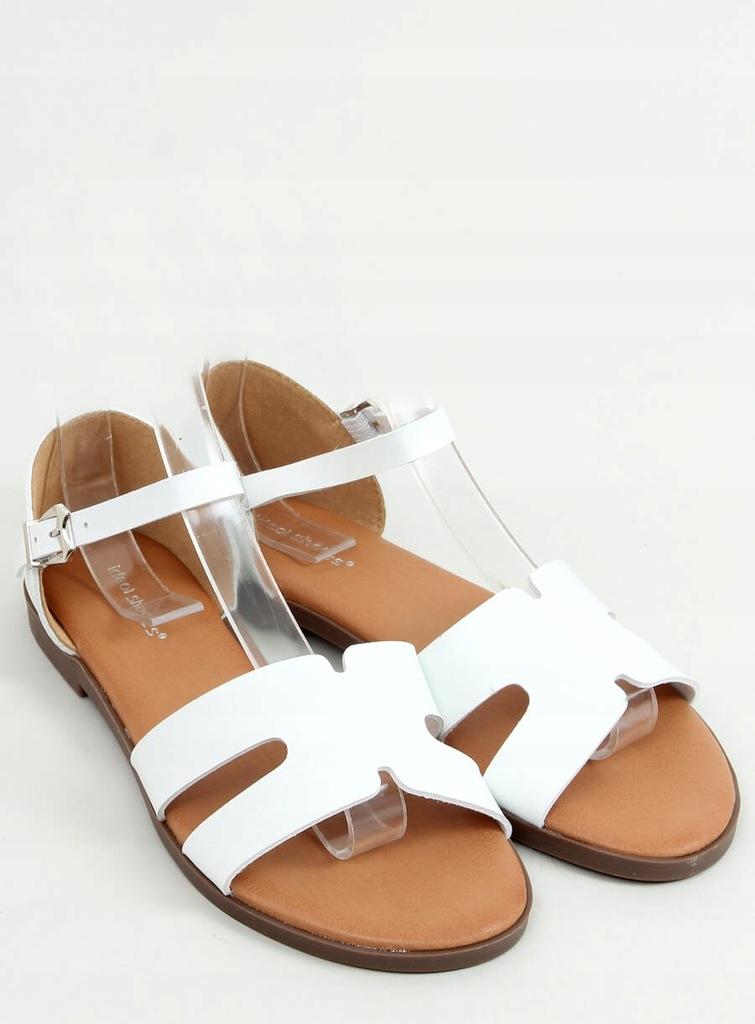 Sandały damskie Sandałki białe 39