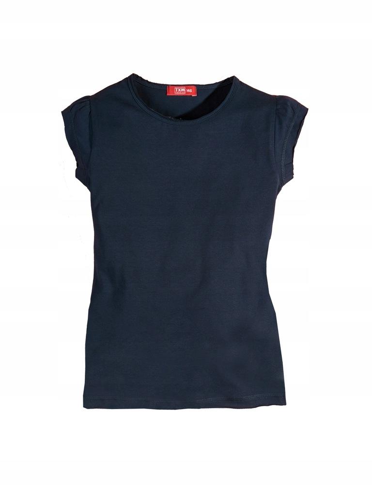 TXM T-shirt dziewczęcy 152 GRANATOWY