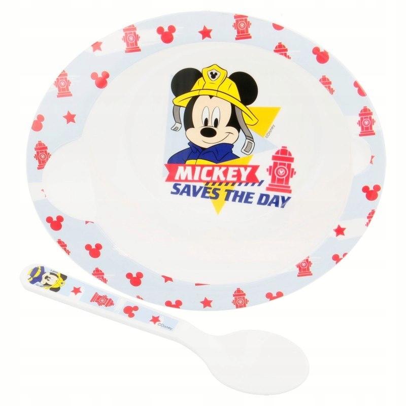 Mickey Mouse - Zestaw do mikrofali (miseczka i łyż