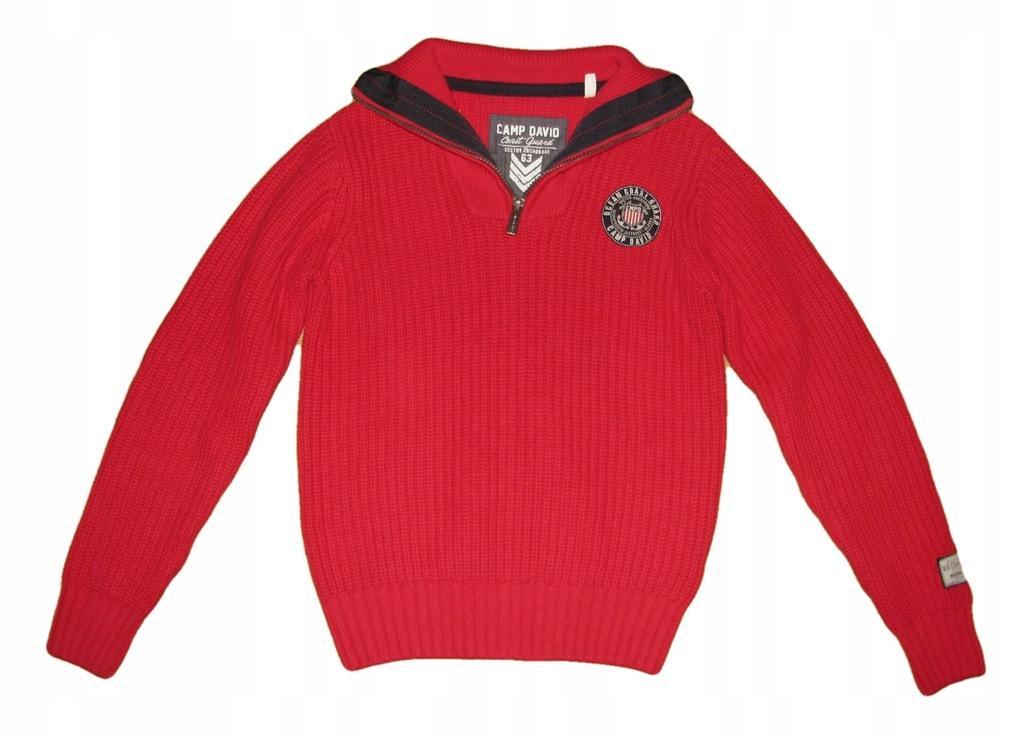 CAMP DAVID Coast Guard cieplutki sweter M/L j Nowy