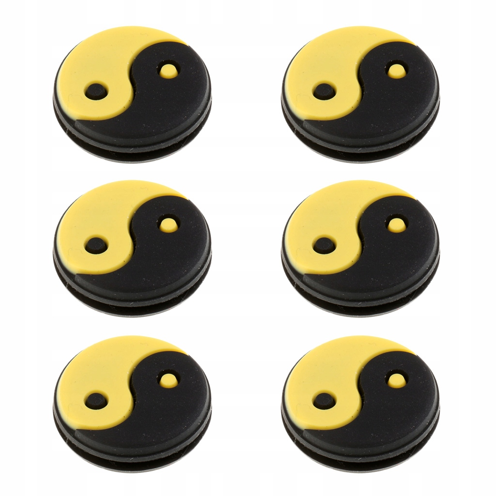 6 sztuk tłumik do rakiet tenisowych - Czarno żółty
