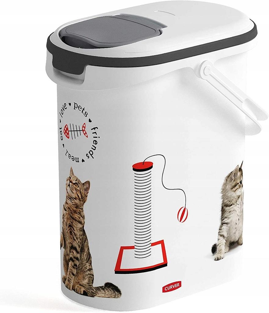 Curver 4 Kg Pojemnik na karmę dla kota, 10 L