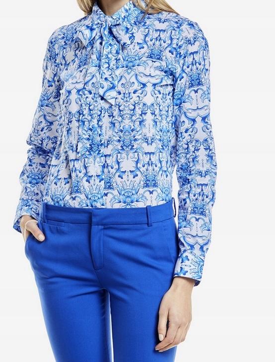 Niebieska koszula damska we wzory Wólczanka 42