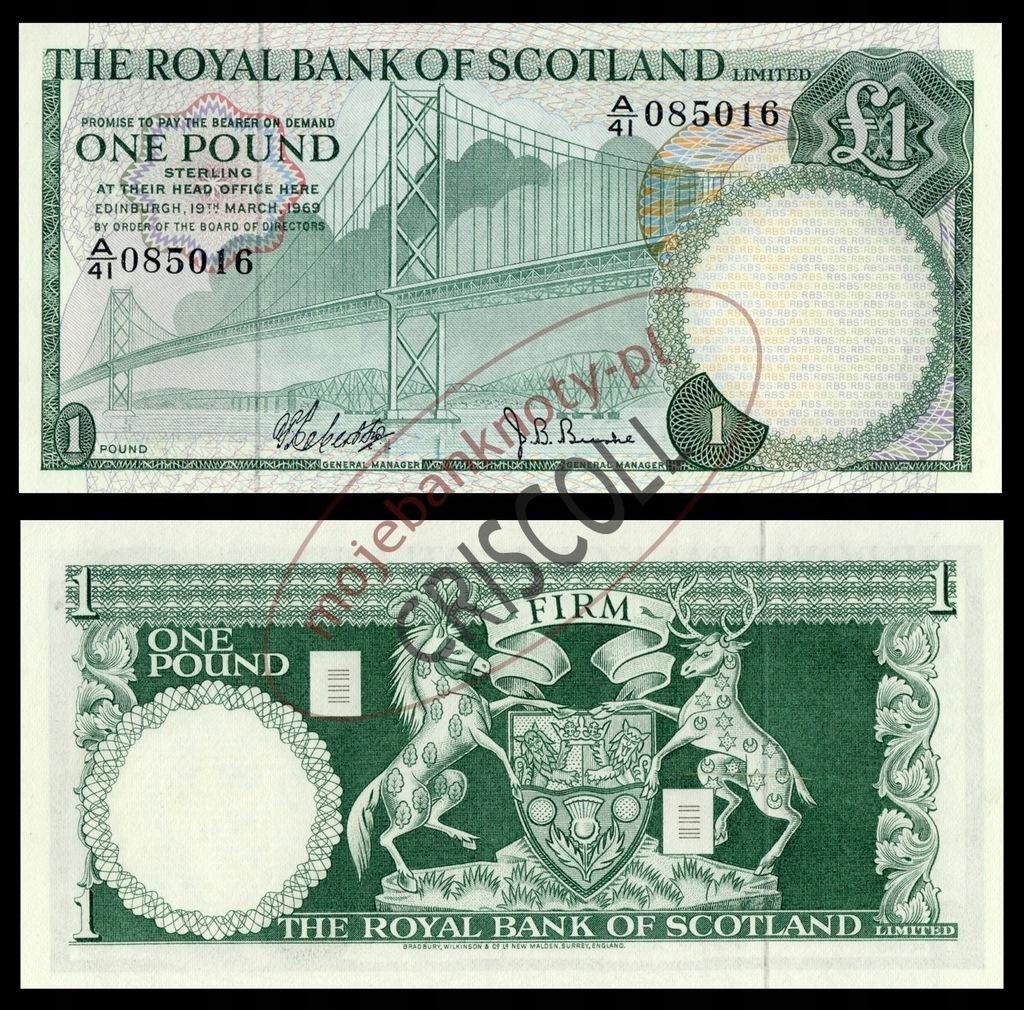 Szkocja 1 funt 1969r. P-329 UNC