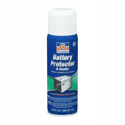 Permatex zabezpiecza klemy i styki akumulatora.