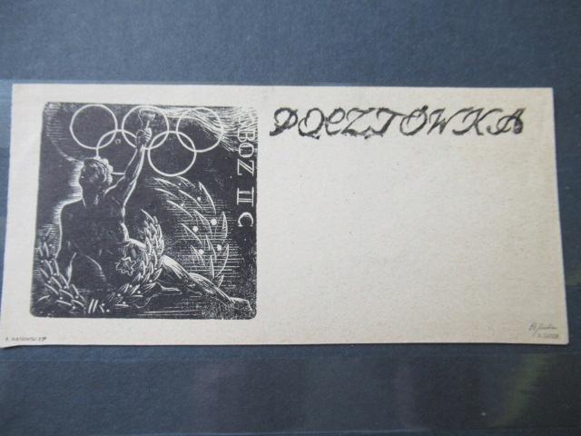 OFLAG IIC WOLDENBERG POCZTÓWKA ROK OLIMPIJSKI 1944
