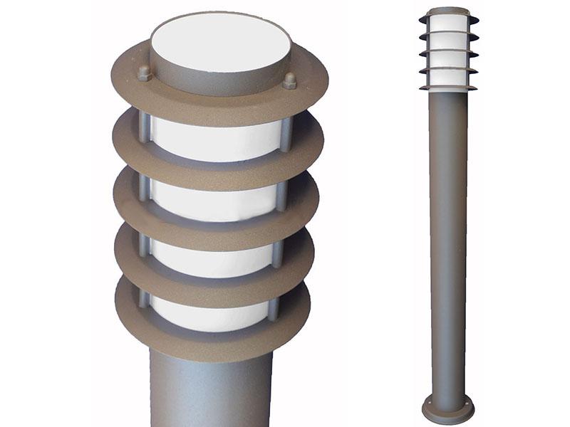LAMPA OGRODOWA SŁUPEK100cm SERENA brąz BIAŁY KLOSZ