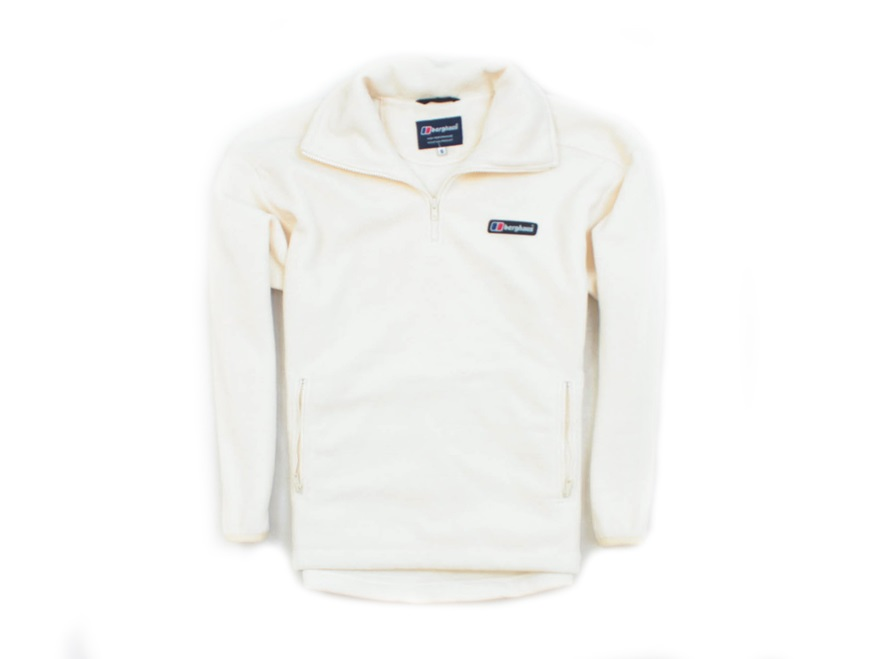 *M Berghaus Bluza Polarowa Meska Zip-Up Ecru roz S