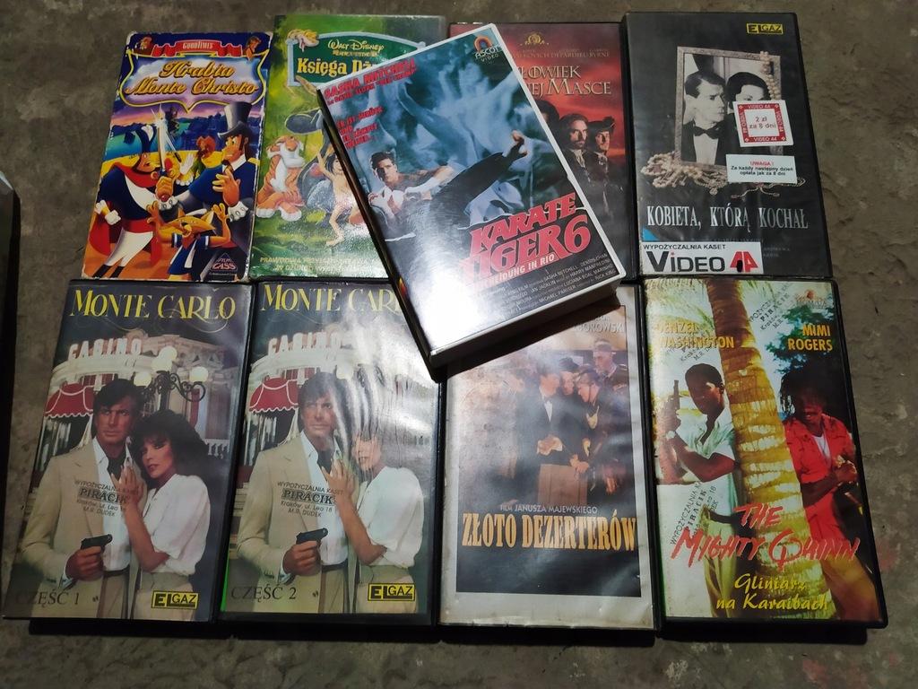 VHS ZESTAW #3 KARATE TIGER MONTE CARLO