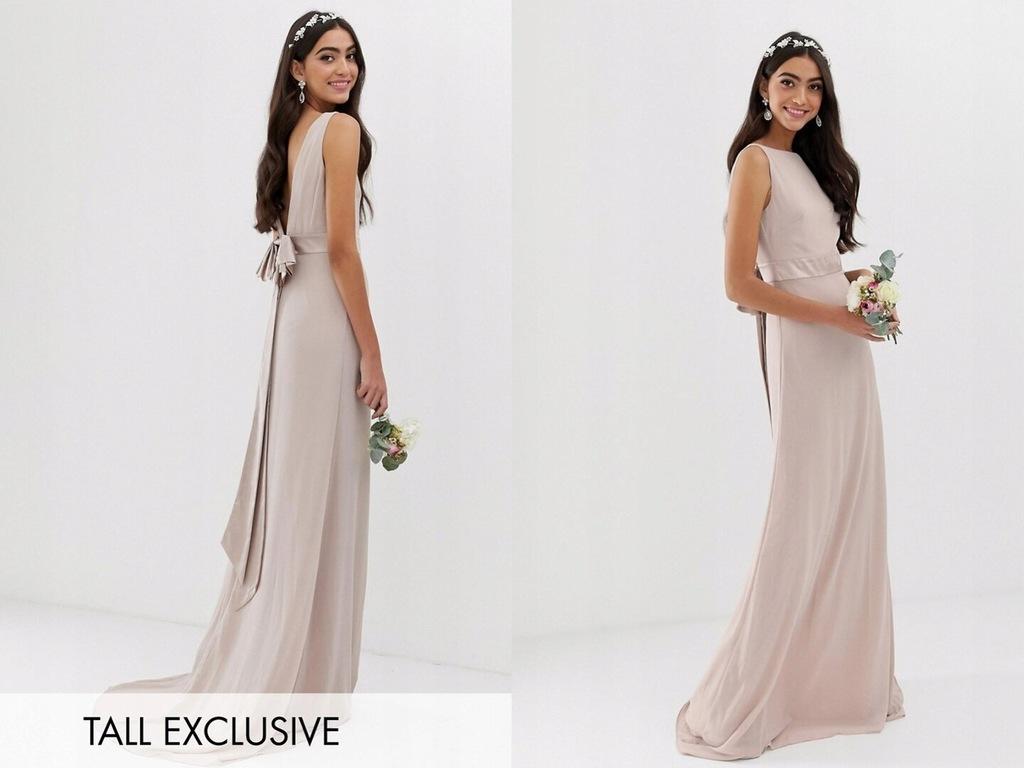 TFNC Tall - Exclusive - Różowa sukienka maxi XL/42
