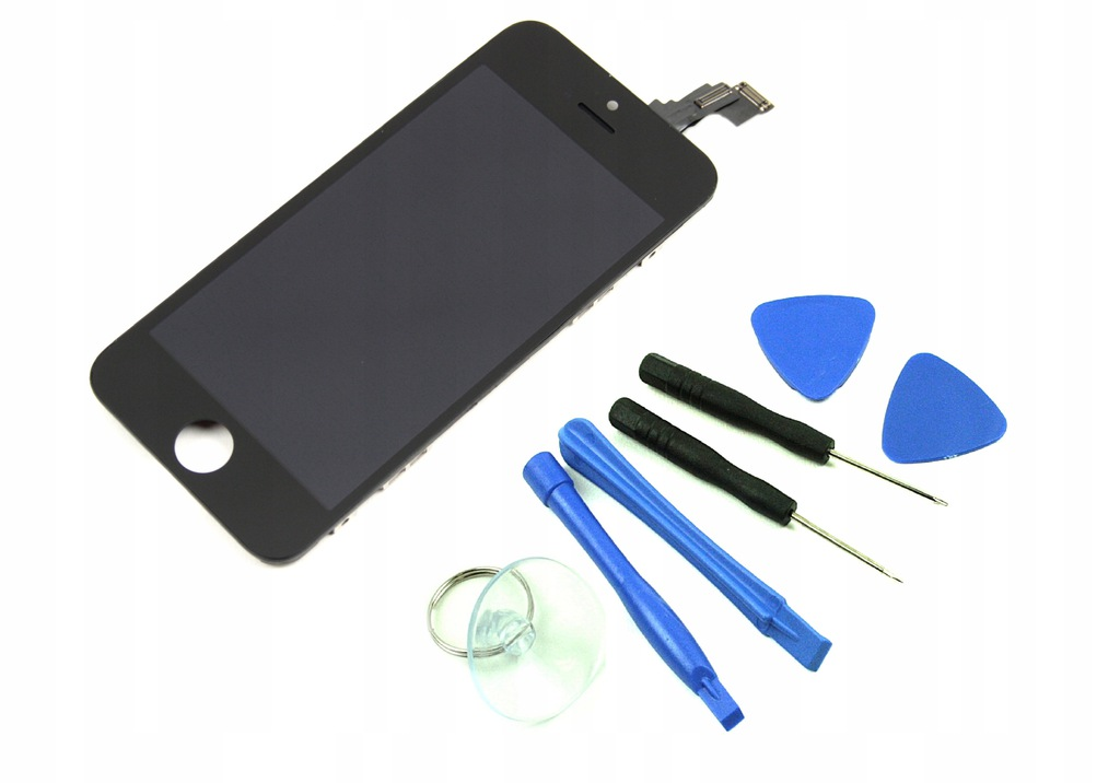 5C IPHONE LCD EKRAN WYŚWIETLACZ CZARNY DOTYK