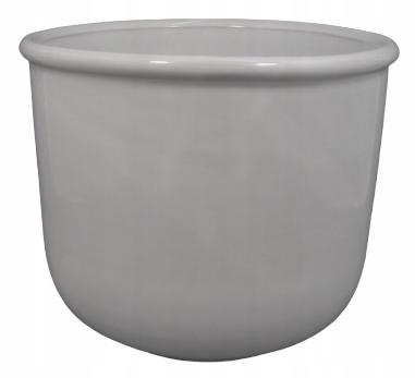 Biała doniczka - osłonka ceramika