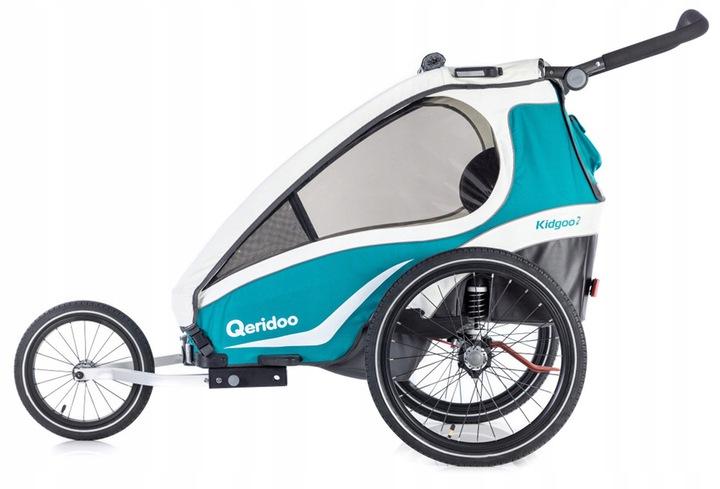 Przyczepka rowerowa Qeridoo Kidgoo 2 2019 Akwamary