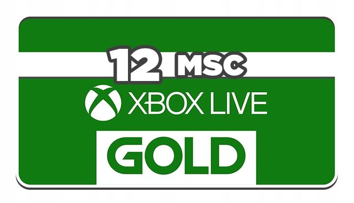 XBOX LIVE GOLD 12 MIESIECY 365 DNI KOD XONE 360