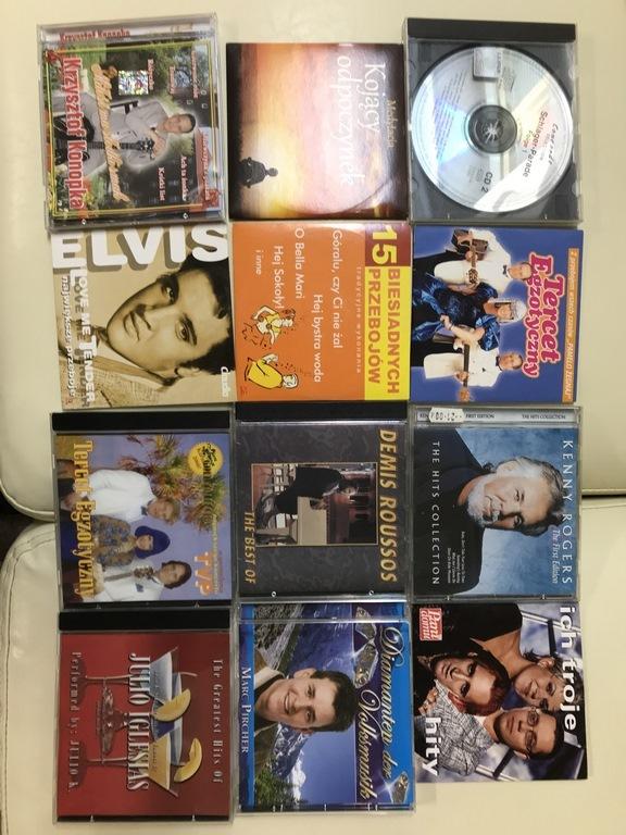12 sztuk płyt CD z muzyką stare i nowe hity