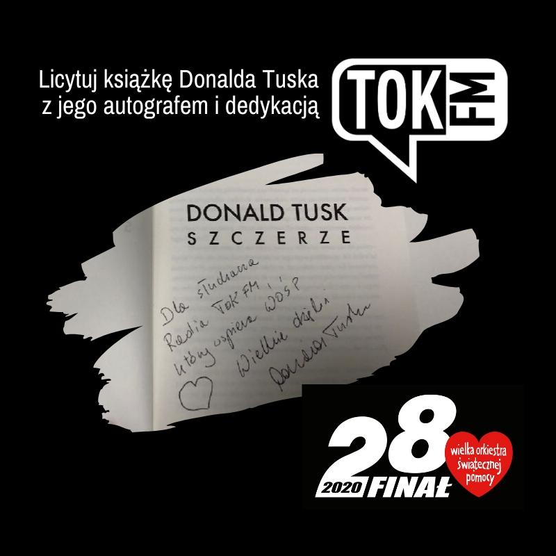 Książka Donalda Tuska z jego autografem