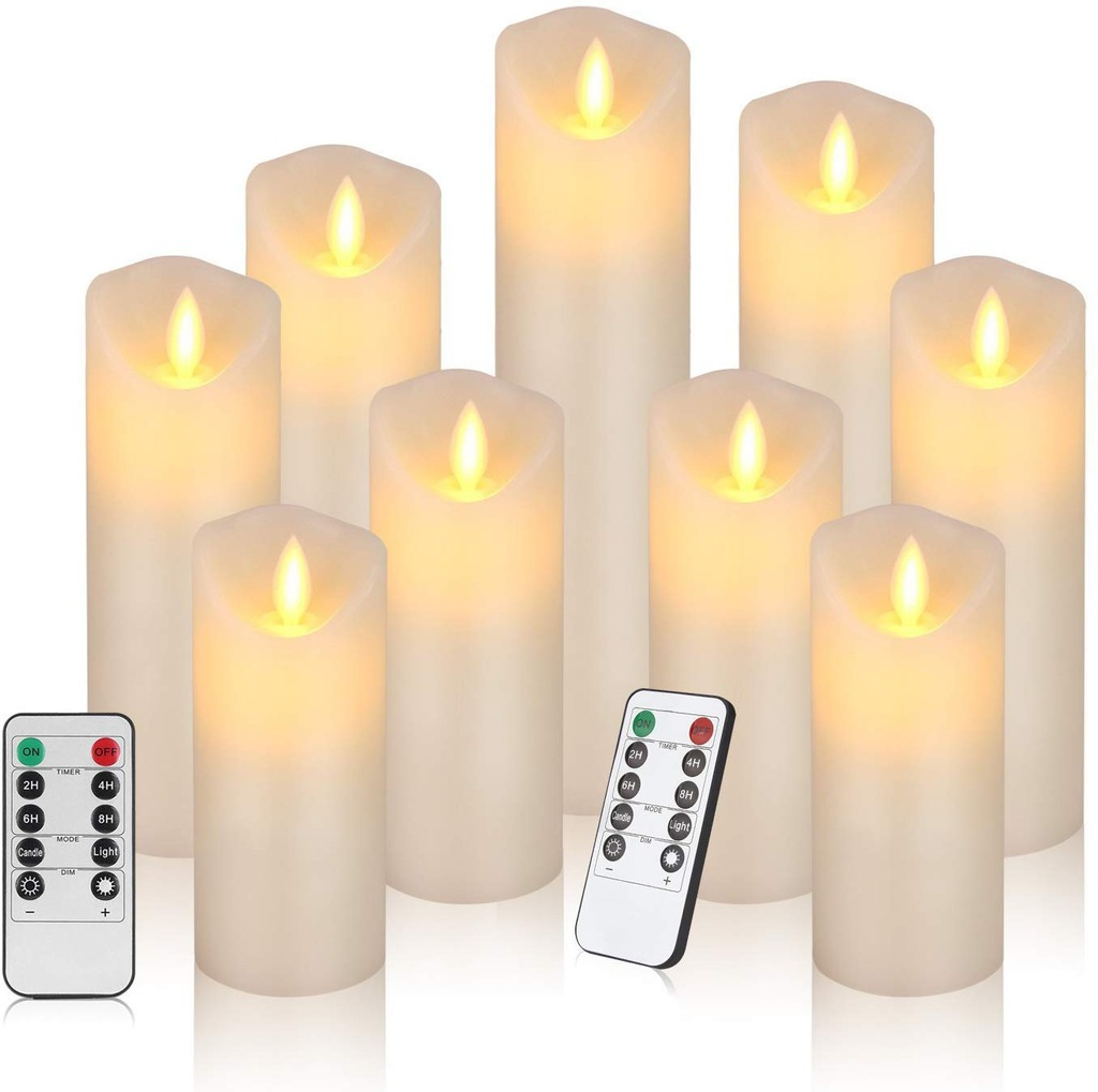 Świece LED, świece bezpłomieniowe 9 szt