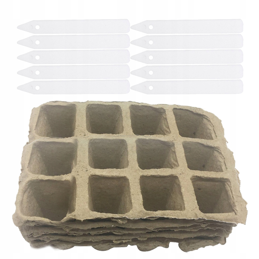 40 sztuk Garnki do kiełkowania nasion Papier falis