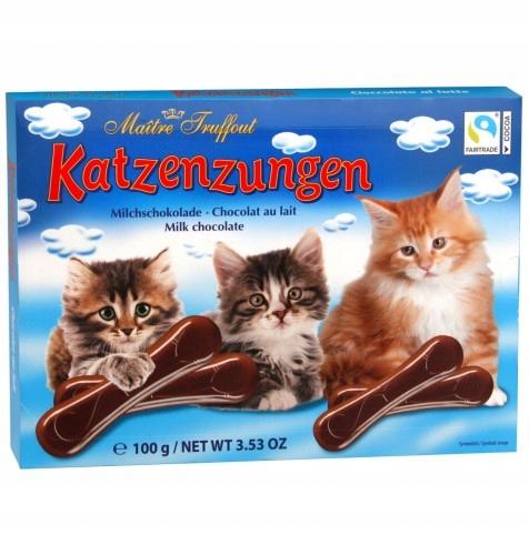 Kocie Języczki czekoladki mleczne 100 g