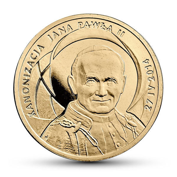 2 zł 2014 Kanonizacja Jana Pawła II