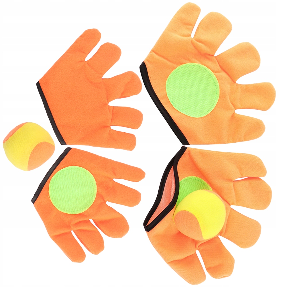 2 Pairs Outdoor Plush Sports Toys Funny Sticky Bal