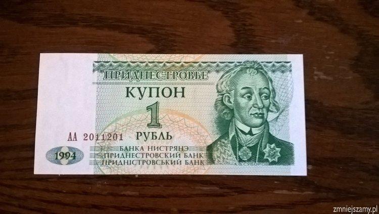 Nadniestrze - banknot 1 kupon dla WOŚP