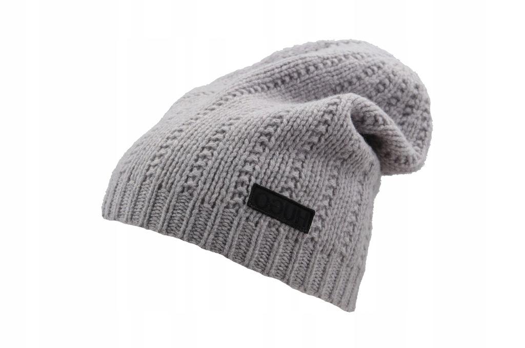 HUGO BOSS czapka zimowa męska BEANIE XAFF 1 wełna