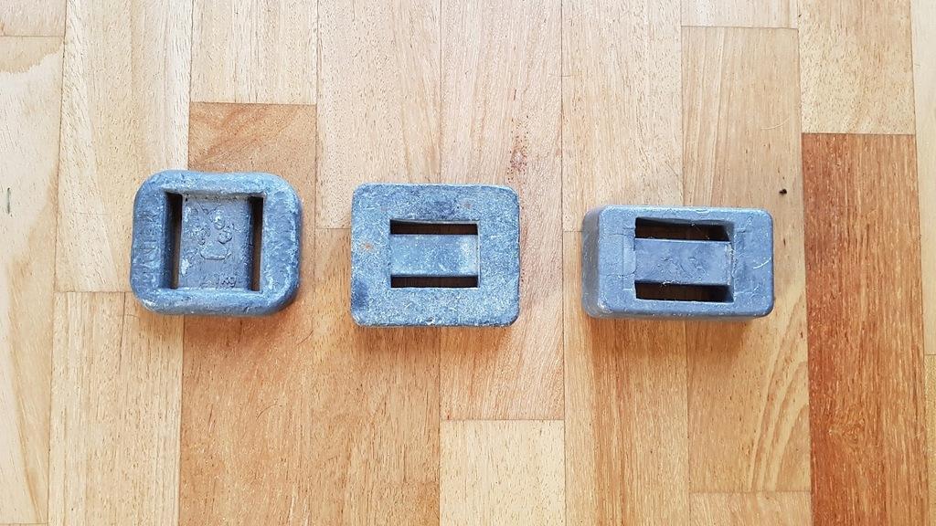 Ciężarek ołowiany, ołów 3 sztuki prostokątne
