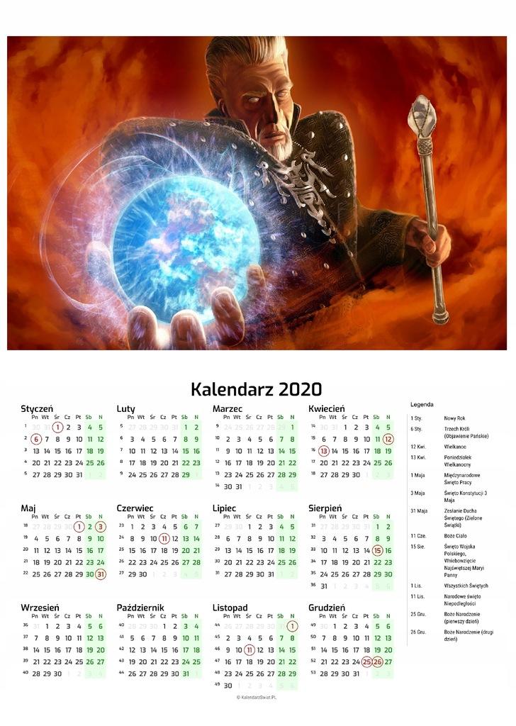 Kalendarz 2020 Gra Gothic 8491233091 Oficjalne Archiwum Allegro