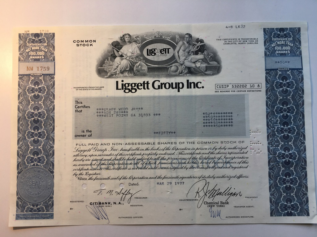 LM LIGGETT GROUP