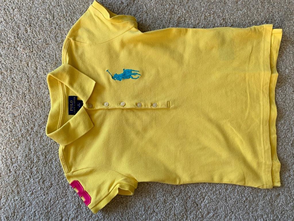 Ralph Lauren koszulka polo 8-10 M żółta