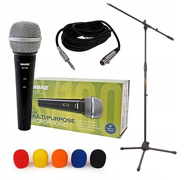 Shure Sv 100 Mikrofon Dynamiczny Statyw Gabka 9105818818 Oficjalne Archiwum Allegro