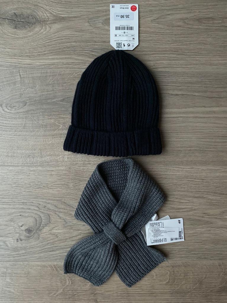 Zara czapka S h&m szalik NOWE