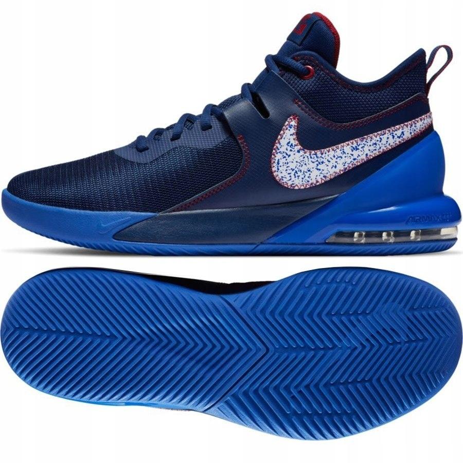 Buty Męskie do kosza Nike Air Max niebieskie 46