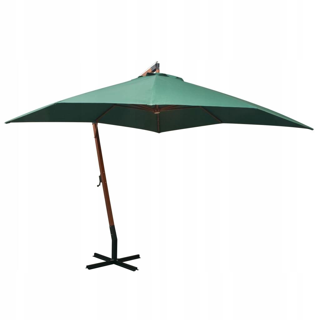 Parasol ogrodowy wiszący, 300 x 300 cm, drewniany,